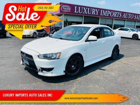 2012 Mitsubishi Lancer for sale at LUXURY IMPORTS AUTO SALES INC in North Branch MN