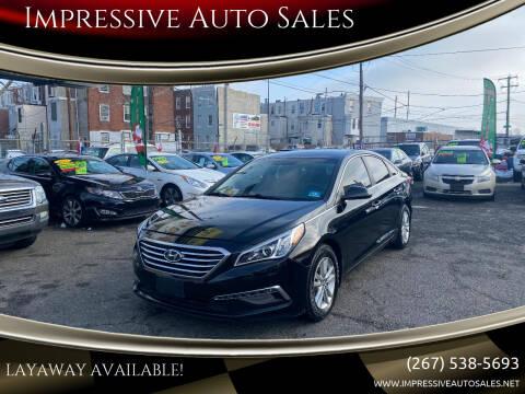 2015 Hyundai Sonata for sale at Impressive Auto Sales in Philadelphia PA