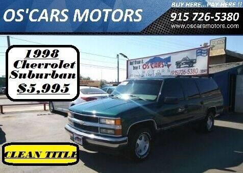 1998 Chevrolet Suburban for sale at Os'Cars Motors in El Paso TX
