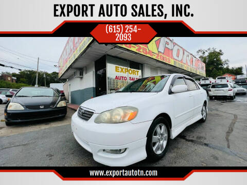2006 Toyota Corolla for sale at EXPORT AUTO SALES, INC. in Nashville TN