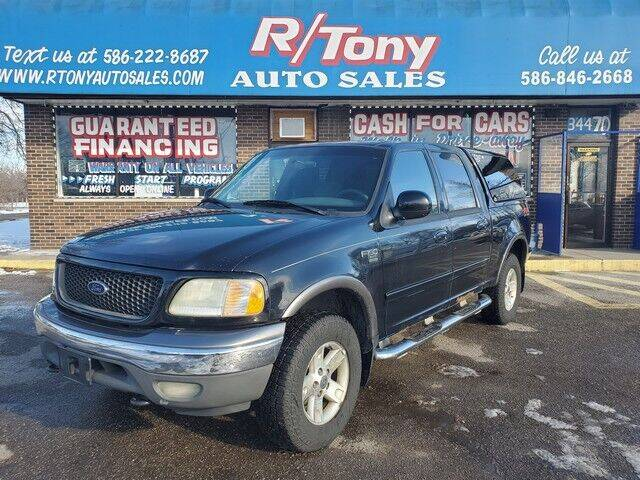 2002 Ford F-150 for sale at R Tony Auto Sales in Clinton Township MI
