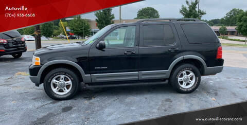 2002 Ford Explorer for sale at Autoville in Kannapolis NC
