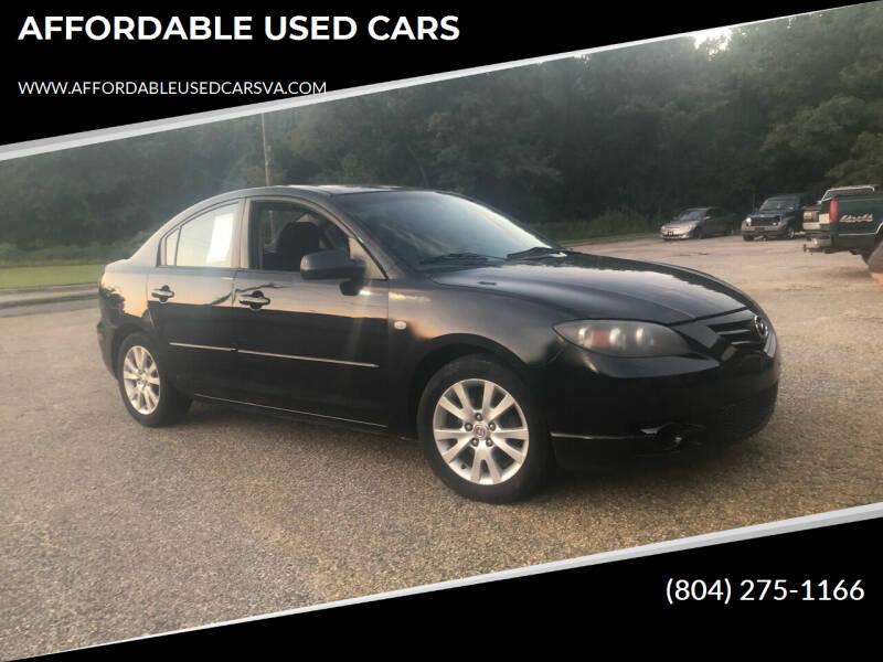 2008 Mazda MAZDA3 for sale at AFFORDABLE USED CARS in Richmond VA