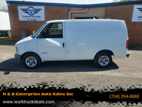 2001 Chevrolet Astro Cargo for sale at H & H Enterprise Auto Sales Inc in Charlotte NC