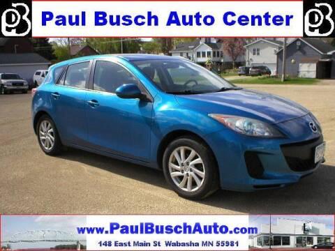 2012 Mazda MAZDA3 for sale at Paul Busch Auto Center Inc in Wabasha MN