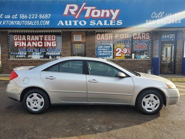 2008 Pontiac G6 for sale at R Tony Auto Sales in Clinton Township MI