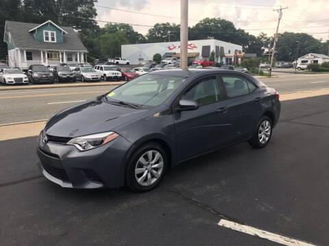 2014 Toyota Corolla for sale at Best Buy Automotive in Attleboro MA