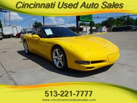 2002 Chevrolet Corvette for sale at Cincinnati Used Auto Sales in Cincinnati OH