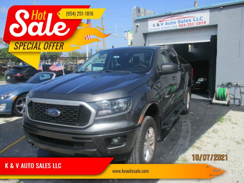 2019 Ford Ranger for sale at K & V AUTO SALES LLC in Hollywood FL