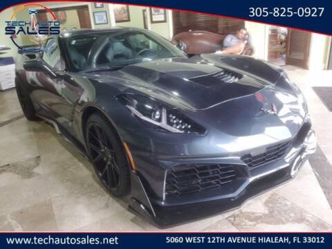 2019 Chevrolet Corvette for sale at Tech Auto Sales in Hialeah FL
