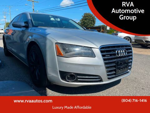 2012 Audi A8 L for sale at RVA Automotive Group in North Chesterfield VA