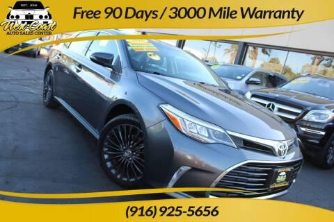2016 Toyota Avalon for sale at West Coast Auto Sales Center in Sacramento CA