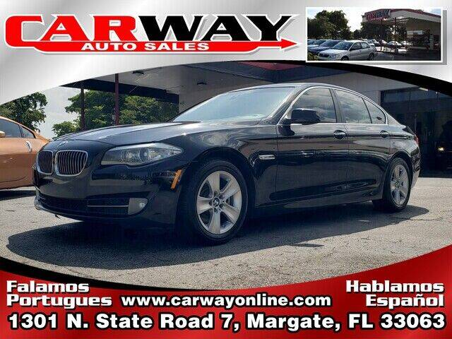 2011 BMW 5 Series for sale at CARWAY Auto Sales in Margate FL