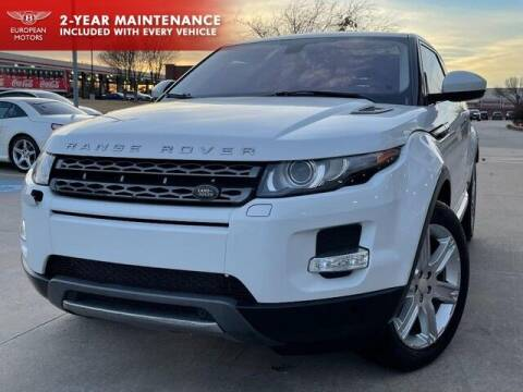 2015 Land Rover Range Rover Evoque Coupe for sale at European Motors Inc in Plano TX