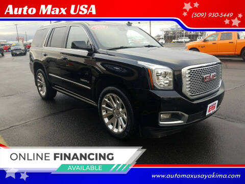 2016 GMC Yukon for sale at Auto Max USA in Yakima WA