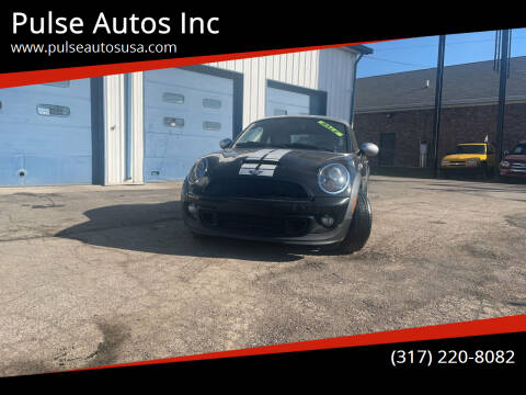 2012 MINI Cooper Coupe for sale at Pulse Autos Inc in Indianapolis IN