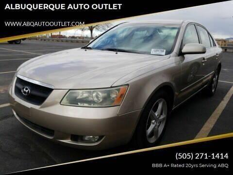 2007 Hyundai Sonata for sale at ALBUQUERQUE AUTO OUTLET in Albuquerque NM