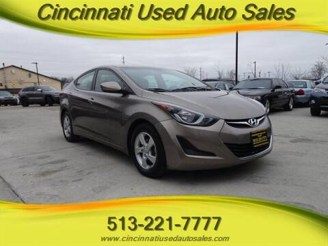2015 Hyundai Elantra for sale at Cincinnati Used Auto Sales in Cincinnati OH