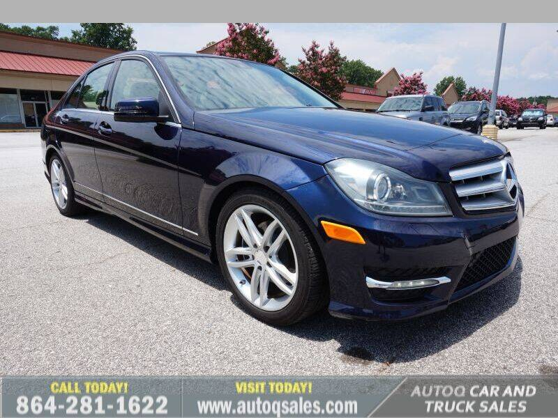 2012 Mercedes-Benz C-Class for sale at Auto Q Car and Truck Sales in Mauldin SC