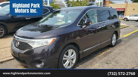 2011 Nissan Quest for sale at Highland Park Motors Inc. in Highland Park NJ