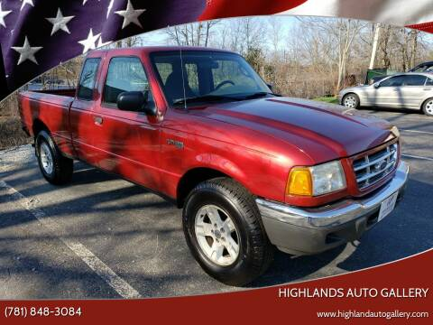 2003 Ford Ranger for sale at Highlands Auto Gallery in Braintree MA
