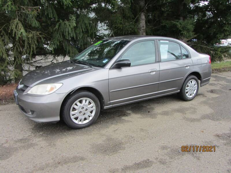 2005 Honda Civic for sale at B & C Northwest Auto Sales in Olympia WA