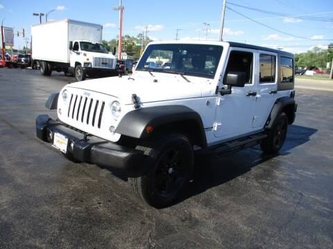 2016 Jeep Wrangler Unlimited for sale at Windsor Auto Sales in Loves Park IL