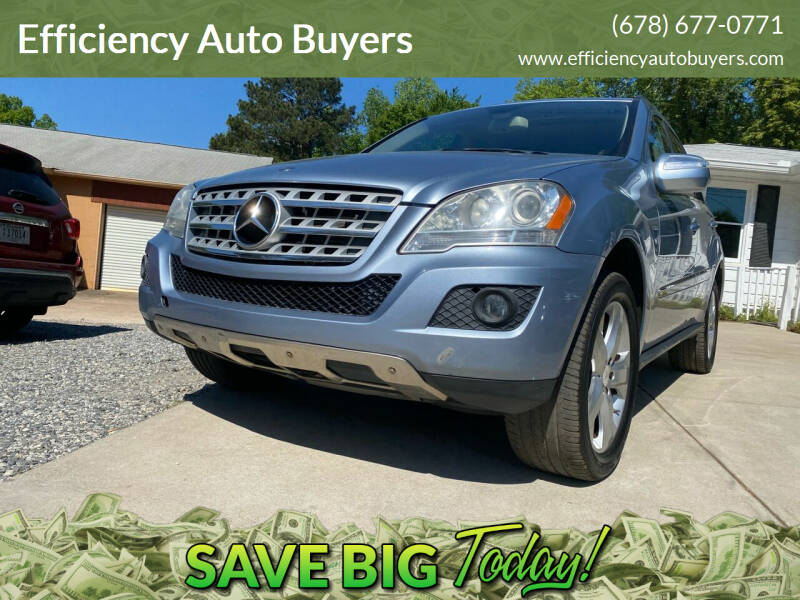 2009 Mercedes-Benz M-Class for sale at Efficiency Auto Buyers in Milton GA