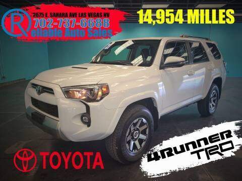 2021 Toyota 4Runner for sale at Reliable Auto Sales in Las Vegas NV