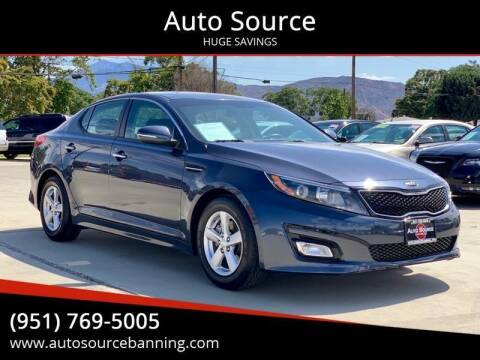 2015 Kia Optima for sale at Auto Source in Banning CA