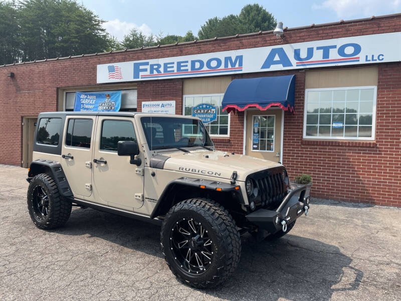 2016 Jeep Wrangler Unlimited for sale at FREEDOM AUTO LLC in Wilkesboro NC