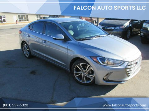 2017 Hyundai Elantra for sale at Falcon Auto Sports LLC in Murray UT