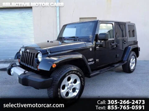2009 Jeep Wrangler Unlimited for sale at Selective Motor Cars in Miami FL