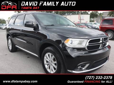 2015 Dodge Durango for sale at David Family Auto, Inc. in New Port Richey FL