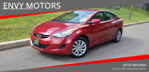 2012 Hyundai Elantra for sale at ENVY MOTORS LLC in Paterson NJ