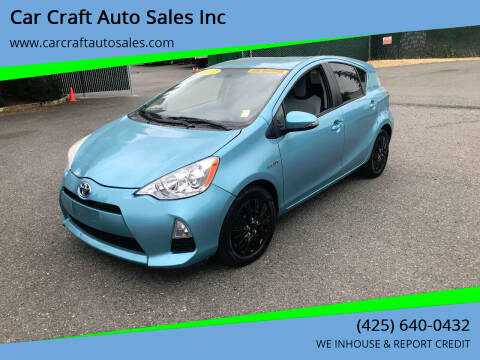 2013 Toyota Prius c for sale at Car Craft Auto Sales Inc in Lynnwood WA
