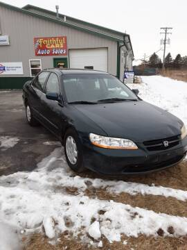 1999 Honda Accord for sale at Faithful Cars Auto Sales in North Branch MI