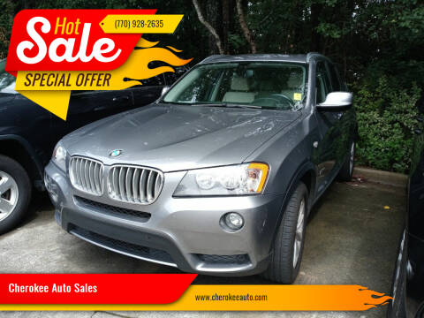 2013 BMW X3 for sale at Cherokee Auto Sales in Acworth GA