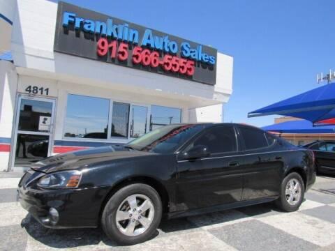2008 Pontiac Grand Prix for sale at Franklin Auto Sales in El Paso TX