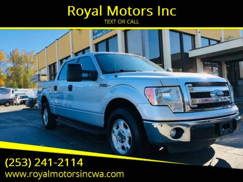 2013 Ford F-150 for sale at Royal Motors Inc in Kent WA