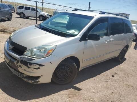 2004 Toyota Sienna for sale at PYRAMID MOTORS - Pueblo Lot in Pueblo CO