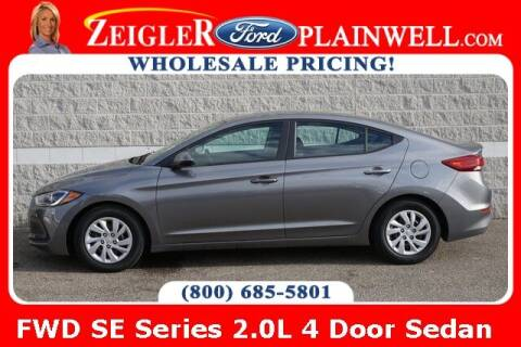 2018 Hyundai Elantra for sale at Zeigler Ford of Plainwell- michael davis in Plainwell MI