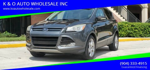 2014 Ford Escape for sale at K & O AUTO WHOLESALE INC in Jacksonville FL