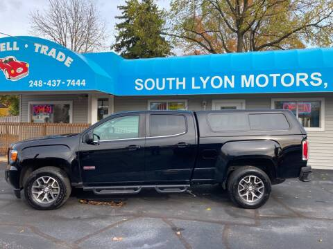 2016 GMC Canyon for sale at South Lyon Motors INC in South Lyon MI