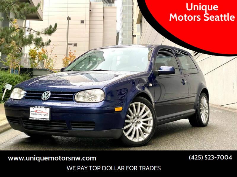 2004 Volkswagen GTI for sale at Unique Motors Seattle in Bellevue WA