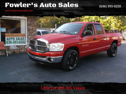 2007 Dodge Ram Pickup 1500 for sale at Fowler's Auto Sales in Pacific MO