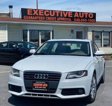 2012 Audi A4 for sale at Executive Auto in Winchester VA
