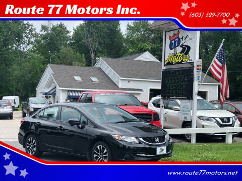 2015 Honda Civic for sale at Route 77 Motors Inc. in Weare NH