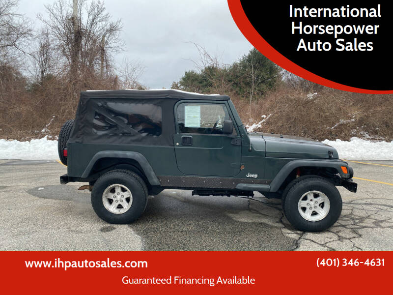 2004 Jeep Wrangler for sale at International Horsepower Auto Sales in Warwick RI
