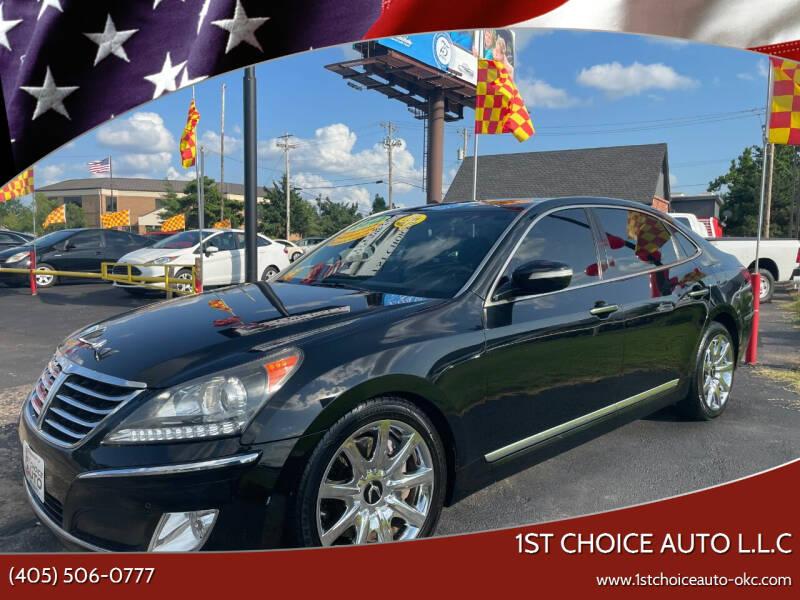 2012 Hyundai Equus for sale at 1st Choice Auto L.L.C in Oklahoma City OK